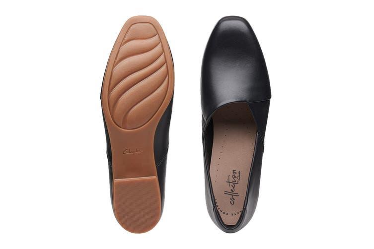 Clarks Women's Juliet Palm Shoe (Black Leather D, Size 4.5 UK)