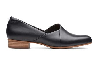 Clarks Women's Juliet Palm Shoe (Black Leather D, Size 6 UK)