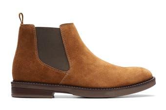 Clarks Men's Paulson Up Shoe (Tan Suede G, Size 11 UK)
