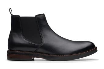 Clarks Men's Paulson Up Shoe (Black Leather G, Size 8 UK)
