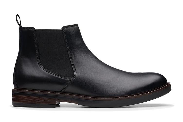 Clarks Men's Paulson Up Shoe (Black Leather G, Size 8 UK)