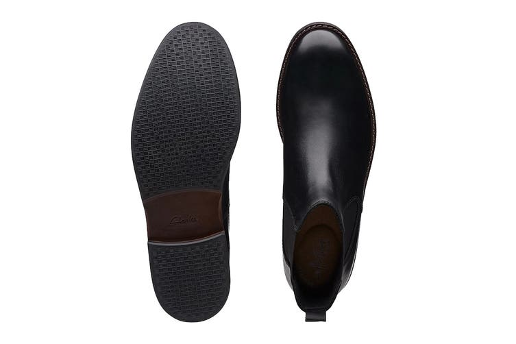 Clarks Men's Paulson Up Shoe (Black Leather G, Size 9.5 UK)