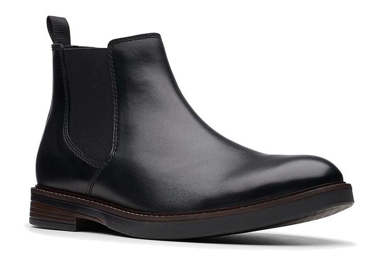 Clarks Men's Paulson Up Shoe (Black Leather G, Size 9 UK)