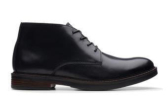 Clarks Men's Paulson Mid Shoe (Black Leather G, Size 9.5 UK)
