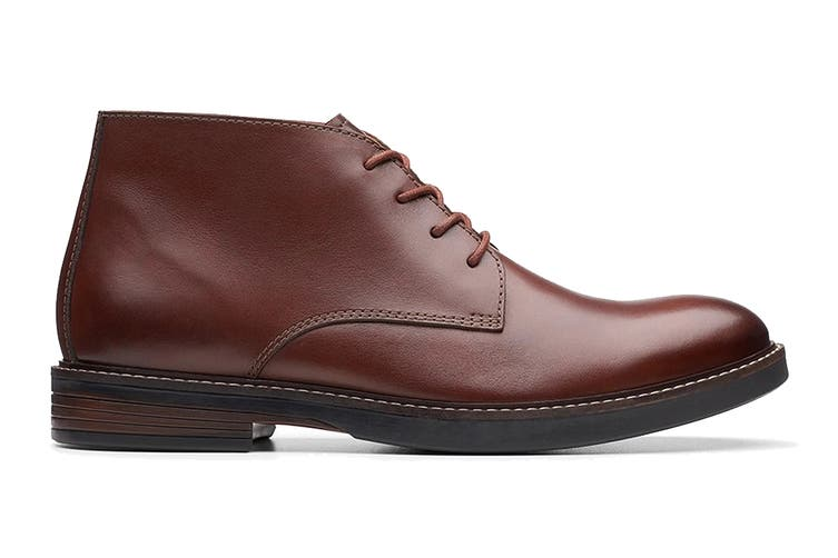 Clarks Men's Paulson Mid Shoe (Mahogany Leather G, Size 7 UK)