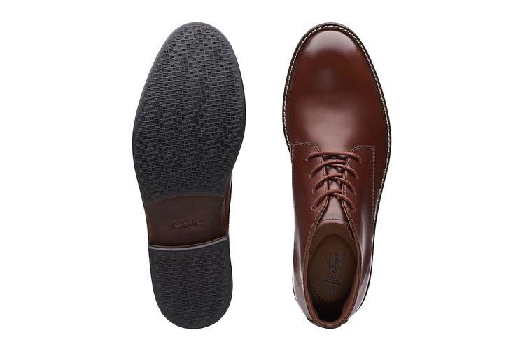 Clarks Men's Paulson Mid Shoe (Mahogany Leather G, Size 9 UK)