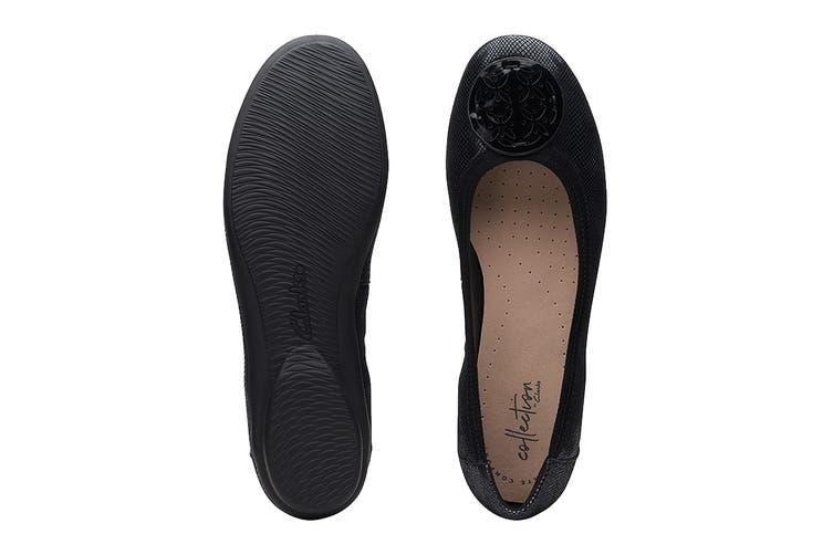 Clarks Women's Gracelin Lola Shoe (Black Interest Leather D, Size 3 UK)