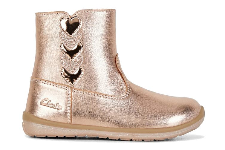 Clarks Girls' Maddy Shoe (Rose Gold E, Size 06 UK)