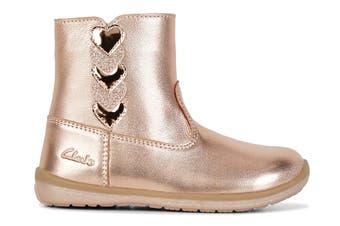 Clarks Girls' Maddy Shoe (Rose Gold E, Size 07 UK)