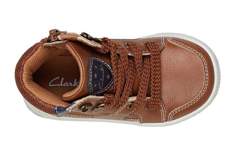 Clarks Boys' Brannon Shoe (Tan E, Size 29 EU)