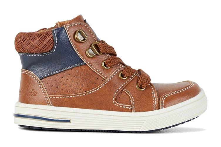 Clarks Boys' Brannon Shoe (Tan E, Size 30 EU)