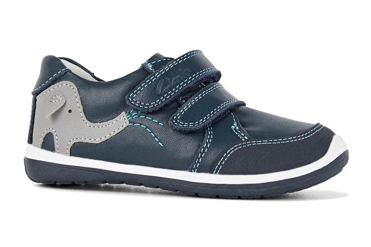 Clarks Boys' Manny Shoe (Navy/Blue/Grey E, Size 07.5 UK)