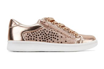 Clarks Girls' Dot Shoe (Rose Gold E+)