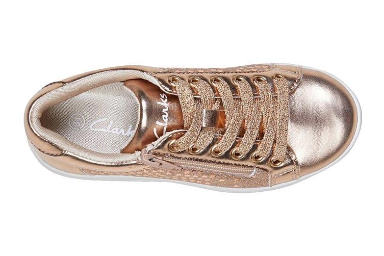 Clarks Girls' Dot Shoe (Rose Gold E+, Size 29 EU)