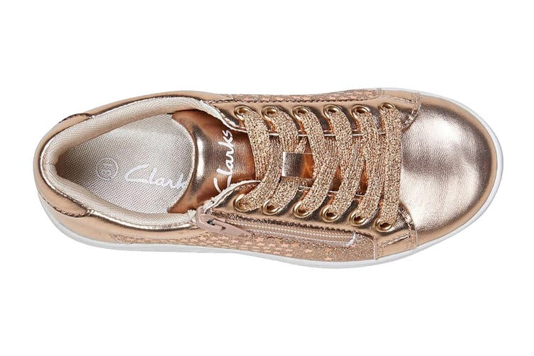 Clarks Girls' Dot Shoe (Rose Gold E+, Size 32 EU)