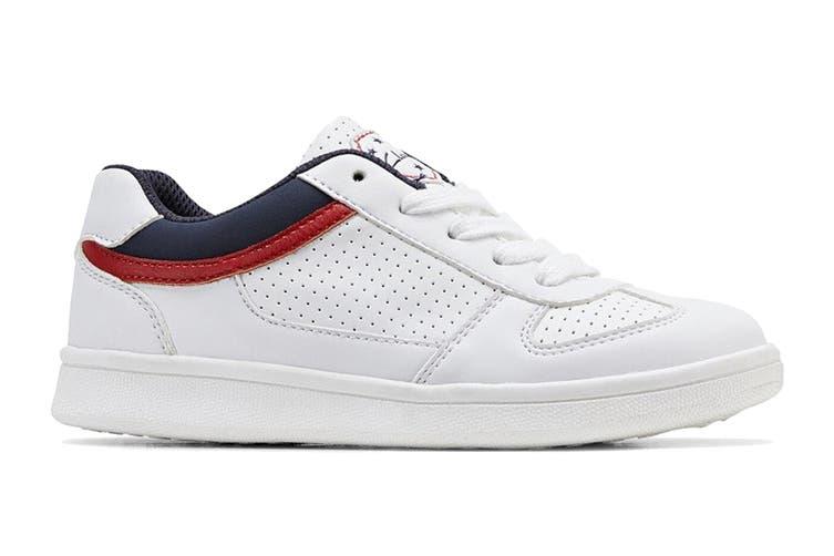 Clarks Boys' Damon Shoe (White E+, Size 28 EU)