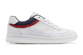 Clarks Boys' Damon Shoe (White E+, Size 36 EU)