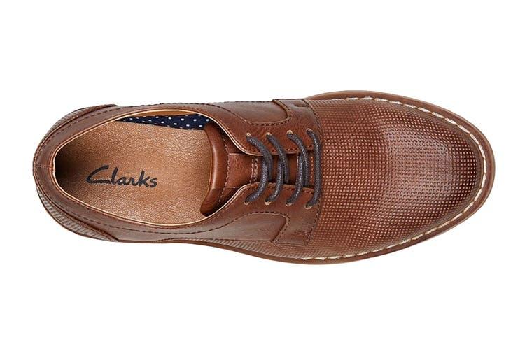 Clarks Boys' Lowen Shoe (Tan E, Size 013 UK)