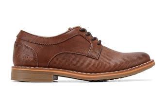 Clarks Boys' Lowen Shoe (Tan E, Size 2.5 UK)
