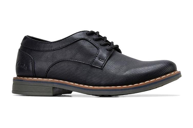 Clarks Boys' Lowen Shoe (Black E, Size 012.5 UK)