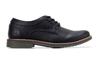 Clarks Boys' Lowen Shoe (Black E, Size 1.5 UK)