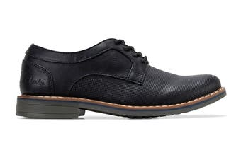 Clarks Boys' Lowen Shoe (Black E, Size 3 UK)