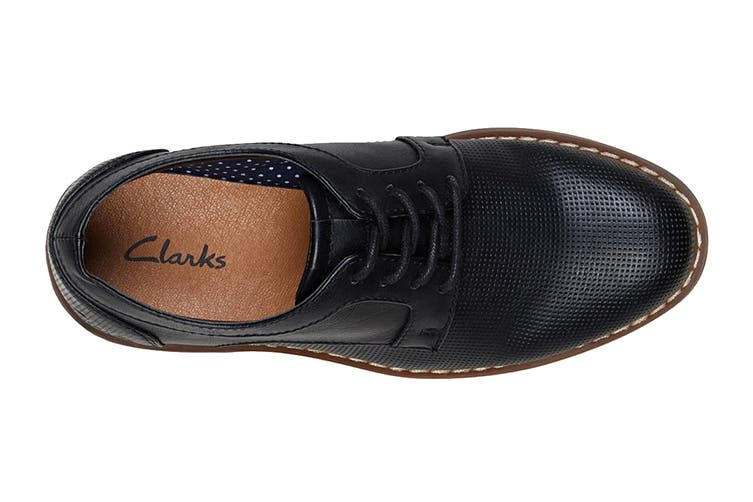 Clarks Boys' Lowen Shoe (Black E, Size 4 UK)