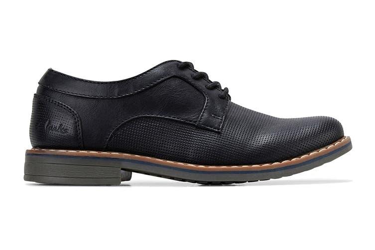 Clarks Boys' Lowen Shoe (Black E, Size 5.5 UK)