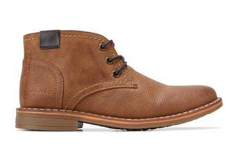Clarks Boys' Landon Shoe (Tan E, Size 3 UK)