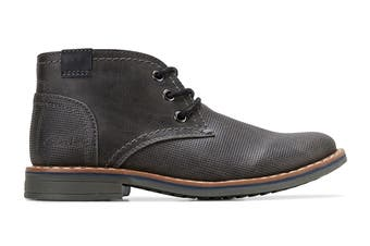 Clarks Boys' Landon Shoe (Dark Charcoal E, Size 2 UK)