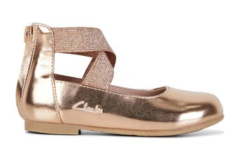 Clarks Girls' Abigail Jnr Shoe (Rose Gold E)