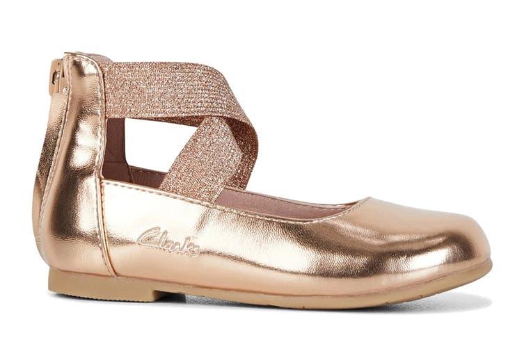 Clarks Girls' Abigail Jnr Shoe (Rose Gold E, Size 22 EU)