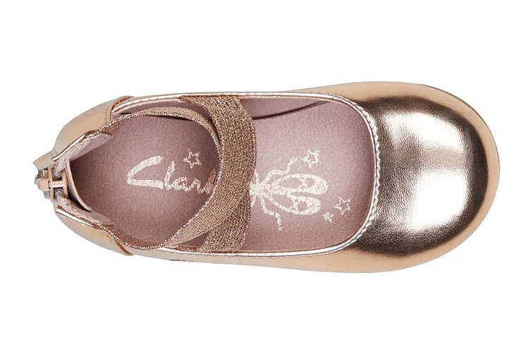 Clarks Girls' Abigail Jnr Shoe (Rose Gold E, Size 23 EU)