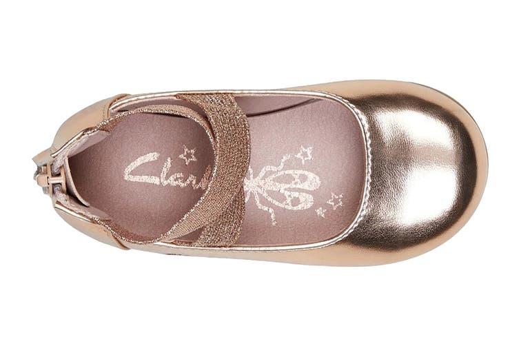 Clarks Girls' Abigail Jnr Shoe (Rose Gold E, Size 24 EU)
