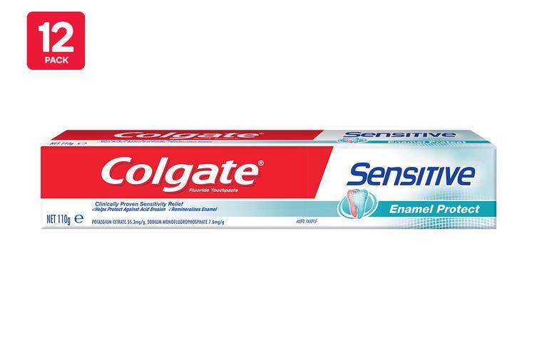 Colgate 110G Toothpaste Sensitive Enamel Protect (12 Pack)