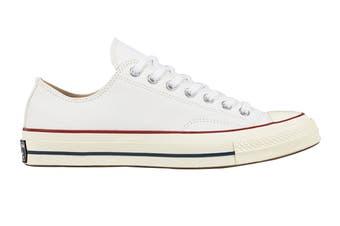Converse Unisex Chuck 70 Ox (White/Garnet/Egret, Size 7)