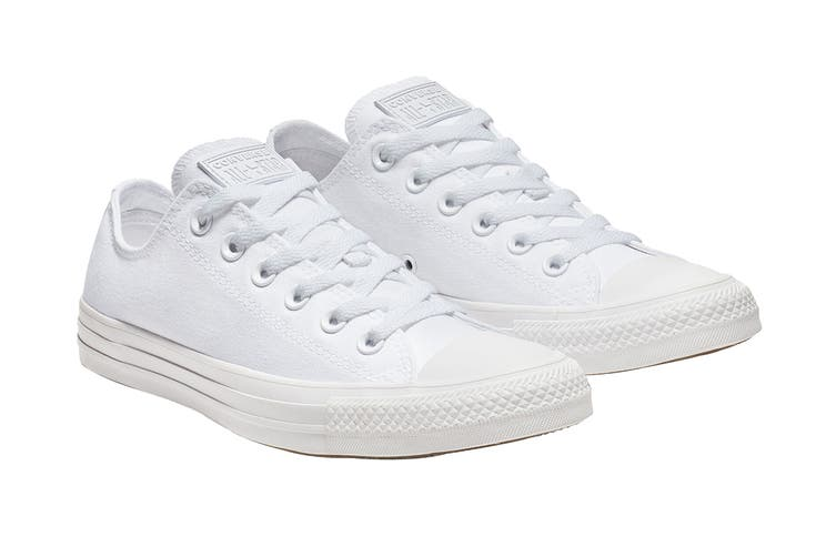 Converse Unisex Chuck Taylor All Star Ox (White Monochrome, Size 12 US)