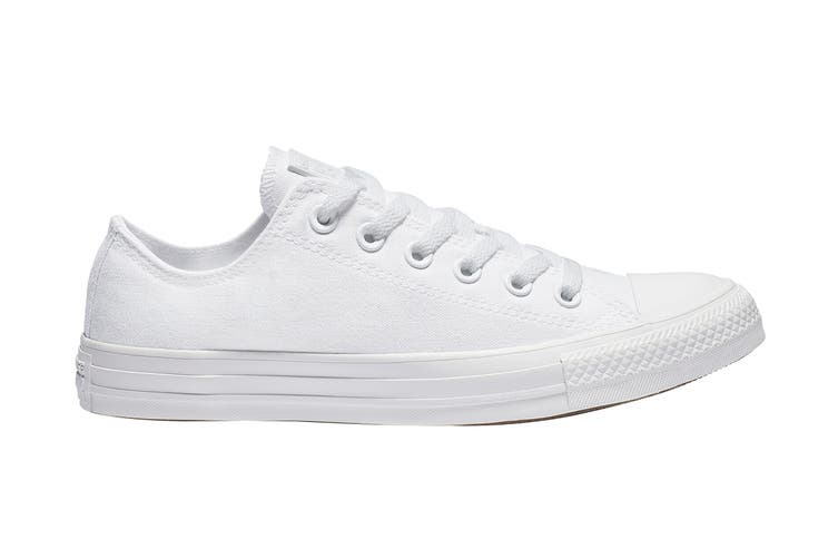 Converse Unisex Chuck Taylor All Star Ox (White Monochrome, Size 8.5 US)