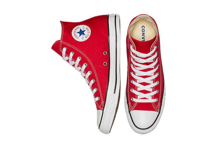 Converse Unisex Chuck Taylor All Star Hi (Red, Size 7)