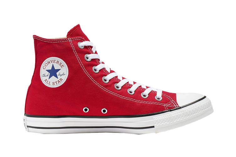 Converse Unisex Chuck Taylor All Star Hi (Red, Size 9)