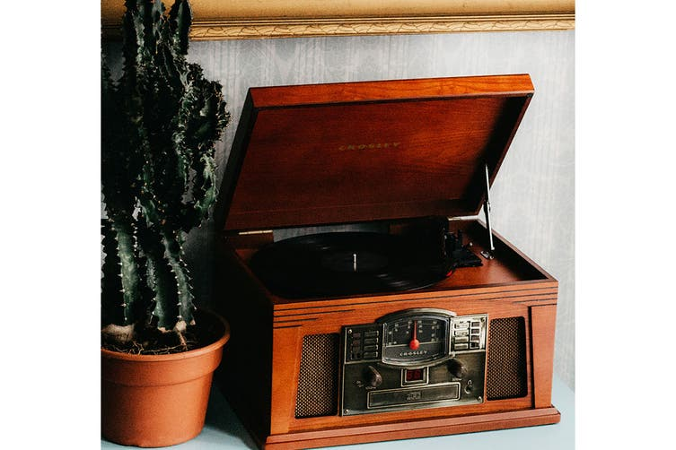 Crosley Lancaster Turntable With Bluetooth - Paprika (CR42D-PA)