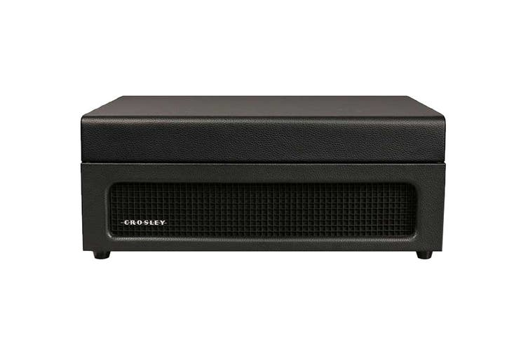 Crosley Voyager Portable Turntable - Black + Free Record Storage Crate (CR8017A-BK4)