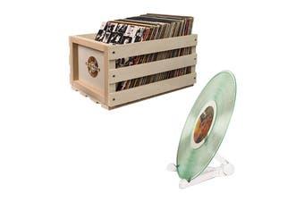 Crosley Record Storage Crate + Free Crosley Vinyl Record Stand (CRAC1004A-B3)