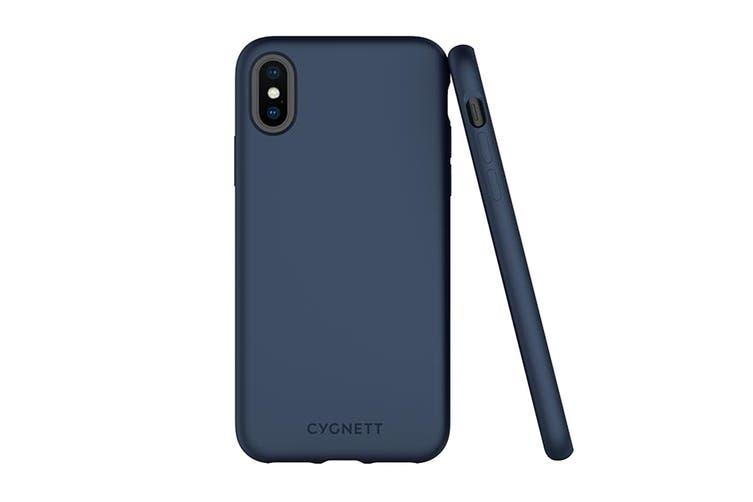 Cygnett Skin Soft Feel Case for iPhone Xs & X - Navy (CY2608CPSKI)