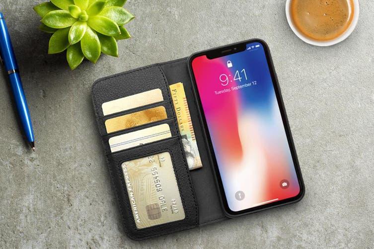 Cygnett CitiWallet Leather Case for iPhone XR - Black (CY2622WALCI)