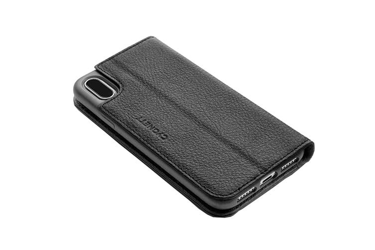 Cygnett CitiWallet Leather Case for iPhone Xs Max - Black (CY2623WALCI)