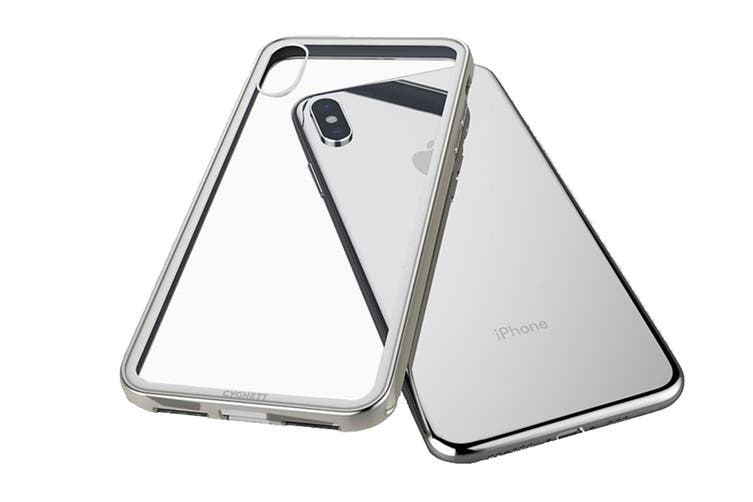 Cygnett Ozone 9H Tempered Glass Case for iPhone  Xs & X - Silver (CY2639OZONE)
