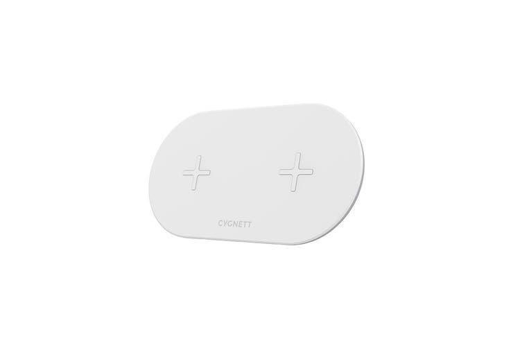 Cygnett TwoFold 10W Dual Wireless Desk Charger+ DC Wall (CY2662WIRDD)