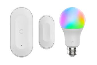Cygnett Smart Window/Door Sensor & Smart Bulb Full Colour 9W (E27)