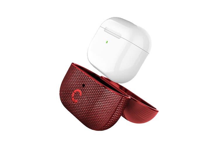 Cygnett TekView AirPods Pro Case - Red/Red (CY3119TEKVI)